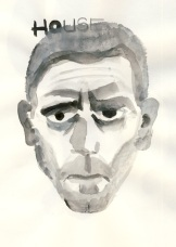 Dr. Gregory House. Watercolor on Paper. June 3, 2010